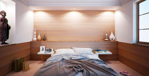 Timber bedroom Wall